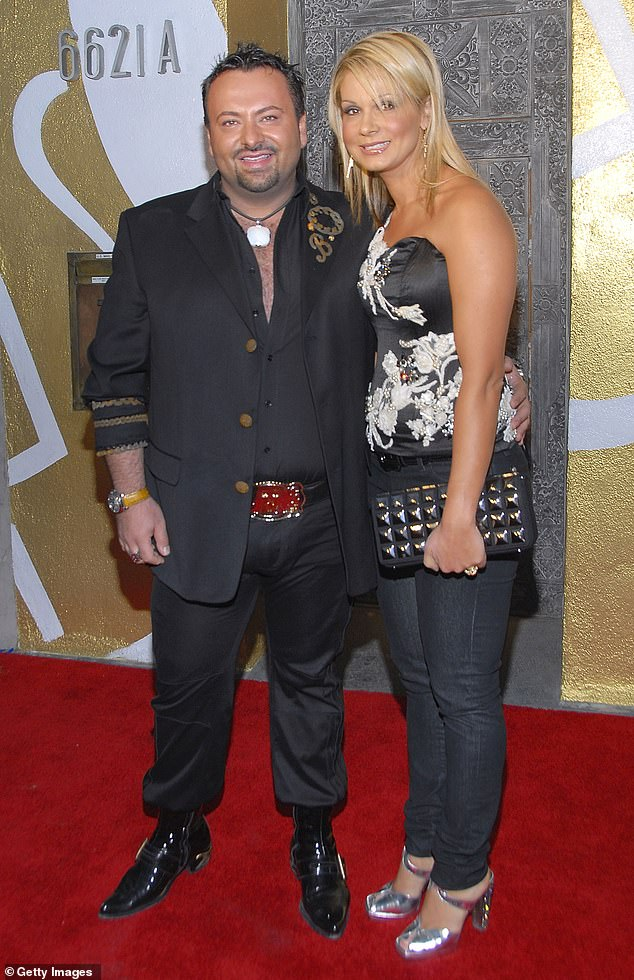 Last week, Mr Perdis (pictured with his wife Soula Marie Perdis in 2007) announced his much-loved brand collapsed