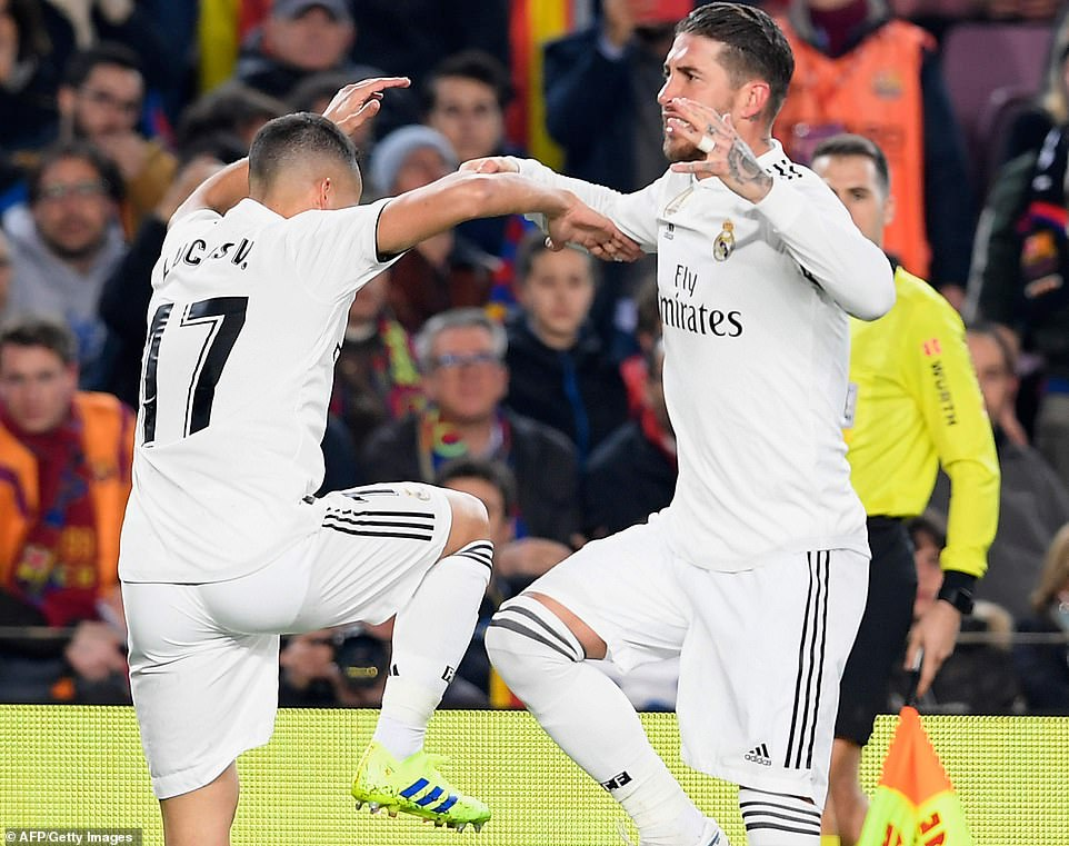 Vasquez was joined by Real Madrid captain Sergio Ramos, who continued the celebrations following the early strike