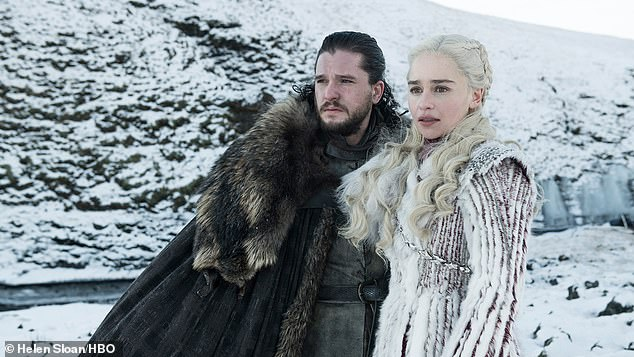 Preview: Game Of Thrones star package Harington and Emilia Clarke are seen as new photos for the premiere of season 8