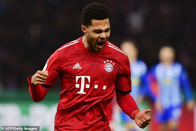 Robert Lewandowski set up Serge Gnabry to score a seventh minute equaliser for Bayern