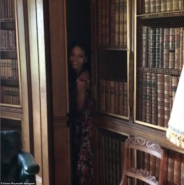 The huge house even boasts a secret bookcase door which leads to a secluded room, boasting floor to ceiling rows of novels and a library style decor. Emma shared a playful boomerang shot as she revealed the surprise room to her followers online