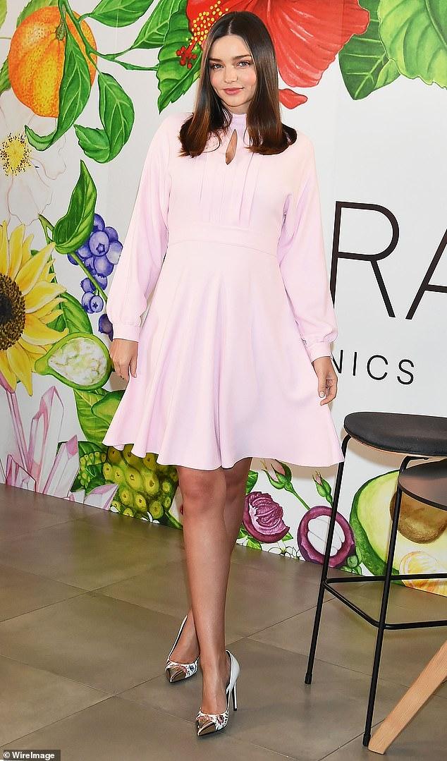 Miranda Kerr is a fan of celery juice, which is promoted for its 'healing' benefits