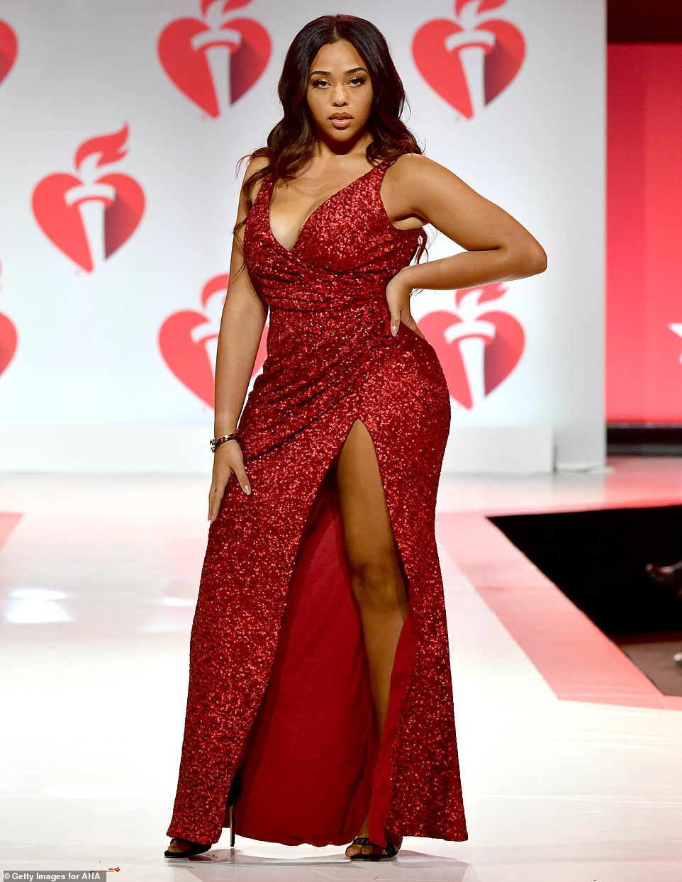 Strike a pose: Kylie Jenner's BFF showed off her dangerous curves on the catwalk