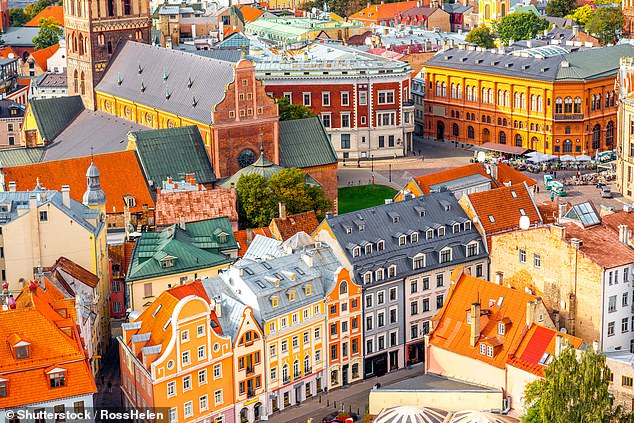 Vibrant: The colourful buildings of the Old Town