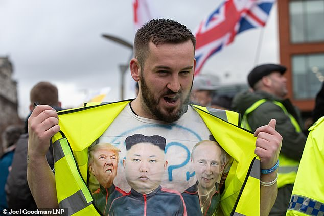 He was in a group of agitators that surrounded Tory MP Anna Soubry and called her a 'Nazi' and a 'traitor' in January