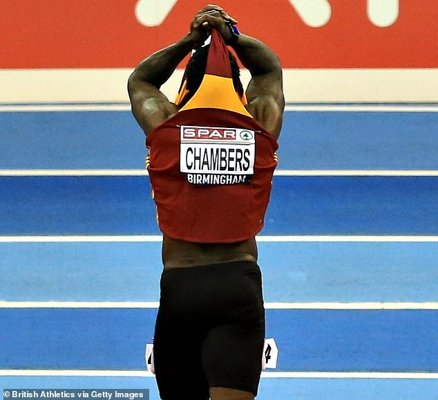 Chambers said: 'I feel like a fossil coming back into the sport again and being resurrected'