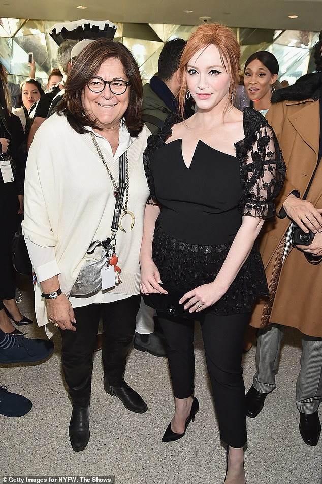 Legend: Fern Mallis, the impresario behind what became New York Fashion Week, got in a bit of mingling around the show with such names as Christina