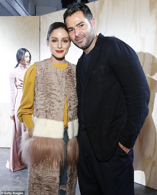 Catching up: Once at the event,  the beauty caught up with the man of the night, designer Jonathan Simkhai