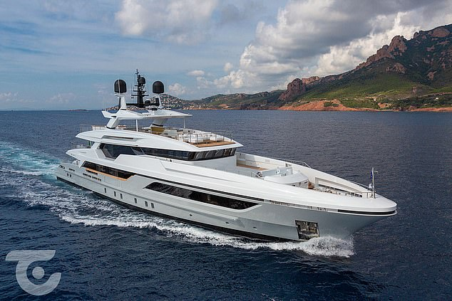 Luxury: Tim Steiner recently bought a $ 25 million Silver Fox yacht, which has a pool and gym
