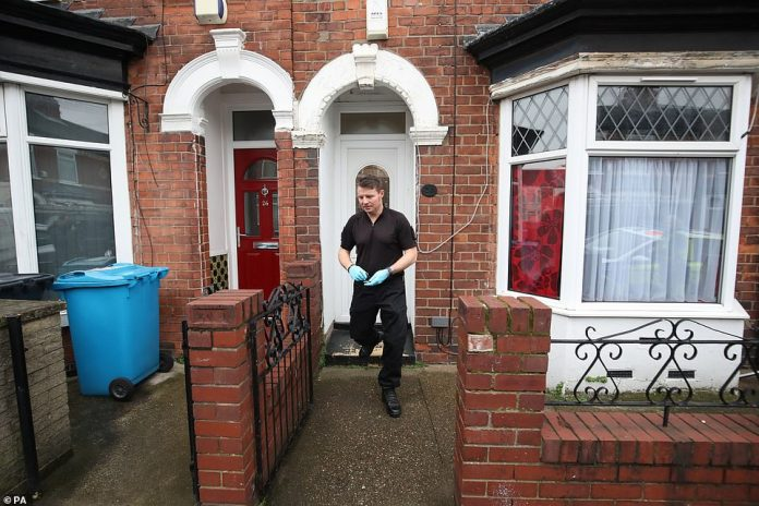 Police officers ransacked the property on Raglan Street in Hull, where 24-year-old Relowicz was arrested on Wednesday night
