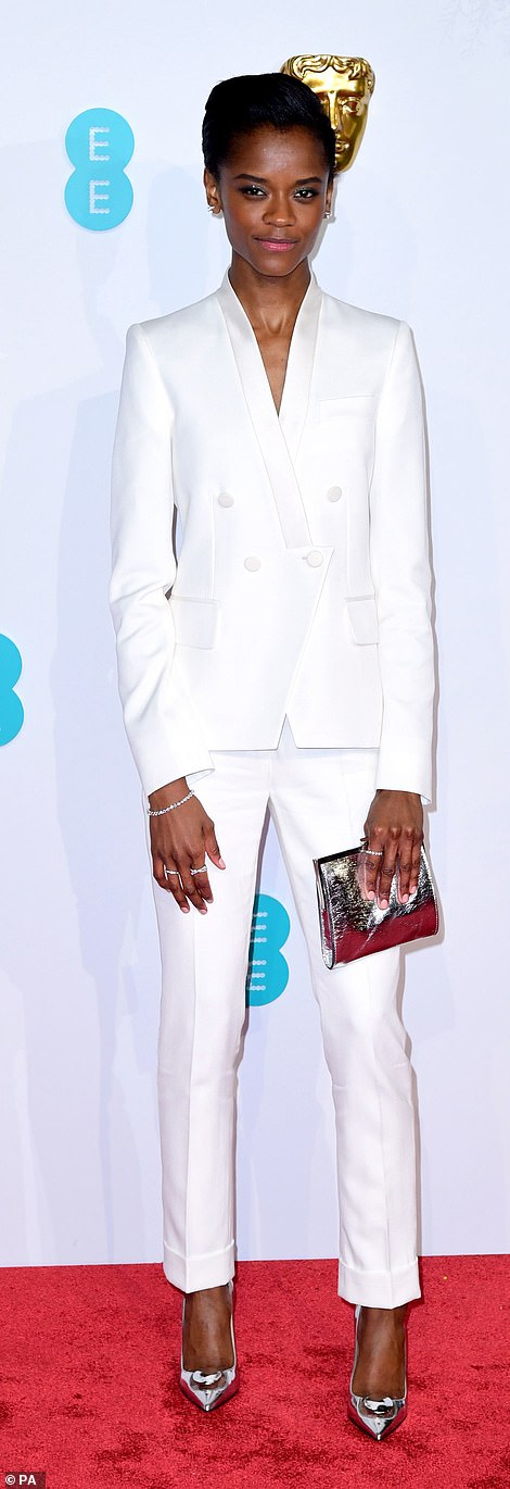 One to watch! Letitia Wright couldn't contain her delight as she won the award for EE Rising Star