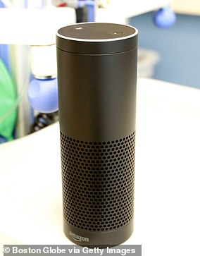 Devices such as Amazon's Alexa (above) and Apple's Siri are becoming crucial health tools, the analysis of the NHS's 'digital future' said [File photo]