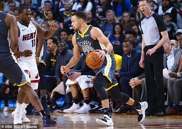 Klay Thompson scored 29 points and Stephen Curry (pictured) added 25 for Golden State
