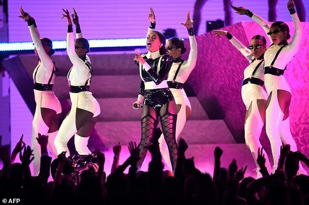 US singer-songwriter Janelle Monae brought her signature futurist blend of pop and psychedelic funk to the Grammys