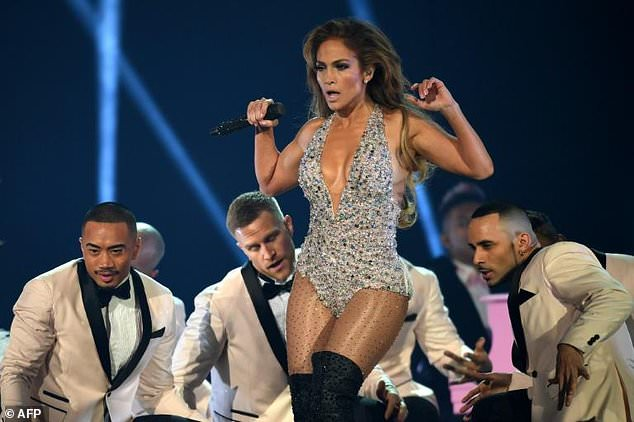 US singer Jennifer Lopez performs a Motown medley at the Grammys -- with some of her trademark sass
