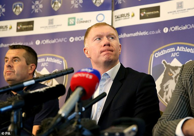 Scholes held his first press conference as Latics manager on Monday afternoon  Paul Scholes reveals why he is worried about Jose Mourinho as he begins his managerial career 9673188 6691505 Paul Scholes held his first press conference as Oldham Athletic  a 48 1549895620968