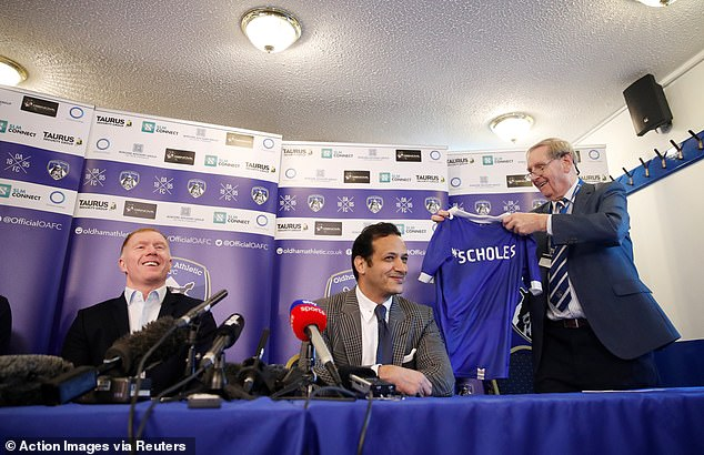 The new boss was presented with a Latics shirt with his name on it at his unveiling  Paul Scholes reveals why he is worried about Jose Mourinho as he begins his managerial career 9673382 6691505 image a 47 1549895288273