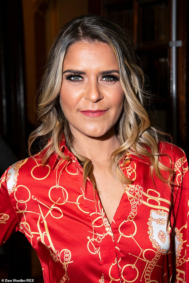 Stunning:Ensuring she was polished to perfection, Gemma opted for a glamorous application of make-up, complete with a heavy dusting of bronzer and fluttery lashes