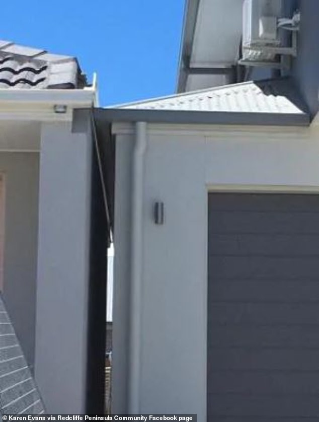 A Newport resident decided to take a photo of the properties after noticing the overlapping gutters