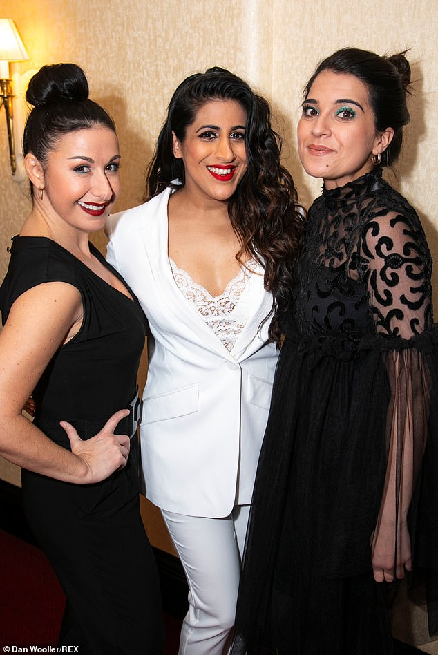 Leading ladies: Stars of the show L-R Hayley Tamaddon (Miss Hedge), Sabrina Sandhu (Pritti Pasha) and Sejal Keshwala (Ray)