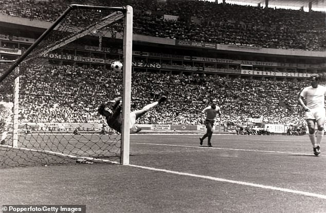 Banks makes his 'save of the century' from Pele's header in the 1970 World Cup