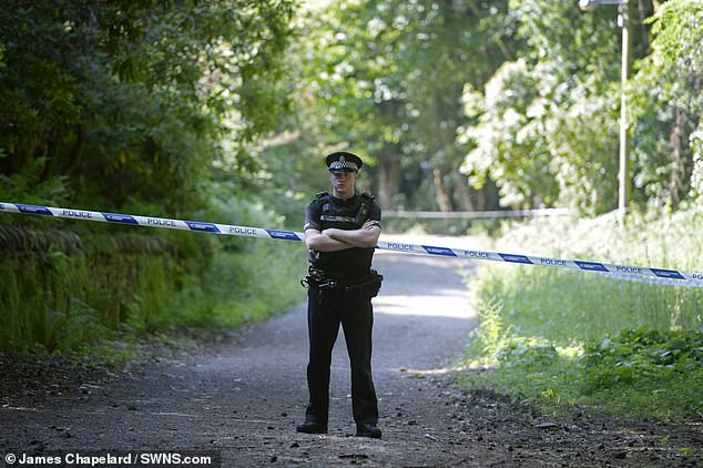 Clothing including men's boxer shorts and jogging bottoms were also found near the scene in Scotland, pictured