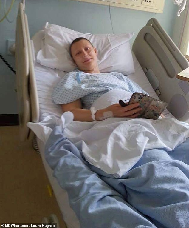'I went through six rounds of chemotherapy, a mastectomy, hormonal treatment and radiotherapy alongside a year of Herceptin injections. Having a mastectomy at just 26 was hard. It was the first operation I had so I was terrified.'