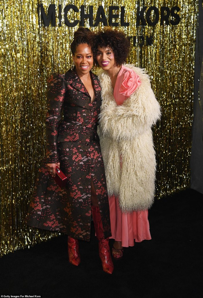 Dynamic duo:Kerry posed on the red carpet for a cute snap with fellow actress Regina King