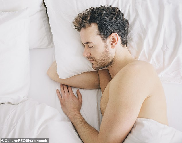 A new study has found that getting less than seven hours of sleep each night can raise your risk of developing atherosclerosis, a disease in which plaque builds up on the inner walls of the arteries (file image)