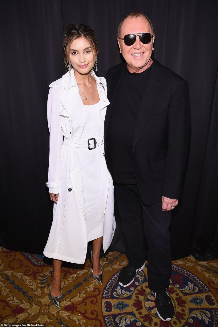 Wowing: Kors also posed for a snap with 22-year-old Australian actress Sarah Ellen