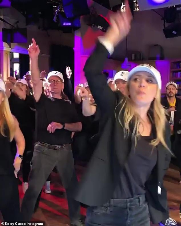 Kaley at the top: Series star Kaley Cuoco brought Instagram and her Instagram story to share some videos and photos of the flash mob based on the Backstreet Boys song Larger Than Life