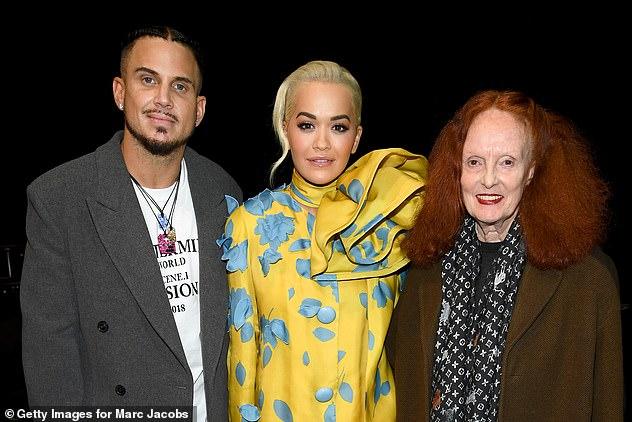 Famous friends:Char DeFrancesco, Rita and Grace Coddington posed together