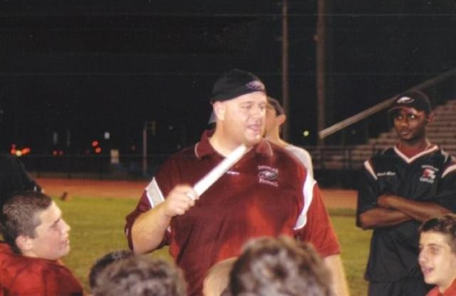 Aaron Feis, 37, (center) died acting as a human shield. The track coach had thrown himself on top of the kids to stop the bullets from hitting him. He was a former student and was also a security guard at the school where he had worked for eight years