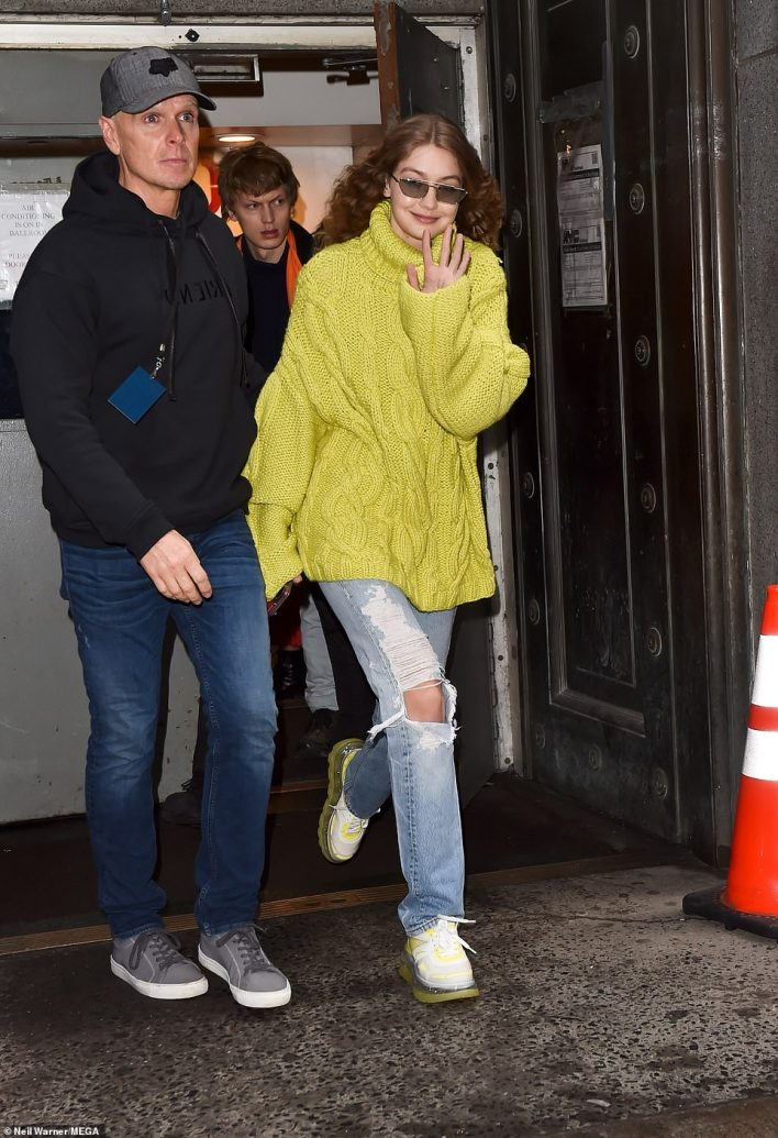 Freedom: Gigi was spotted leaving the event as she waved to her adoring fans