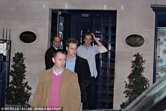 Prince William was once seen a bit worse for wear when he left the uber trendy nightclub & rsquo; Tramp & # 39; with a friend in 2007