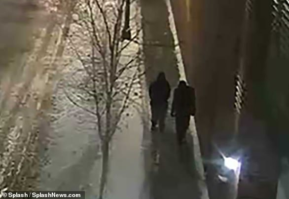Police released this image of 'persons of interest' taken near the reported attack