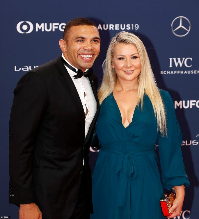 Former Springbok wing Bryan Habana, accompanied by wife Janine Vijoen, remains his country's all-time top try scorer