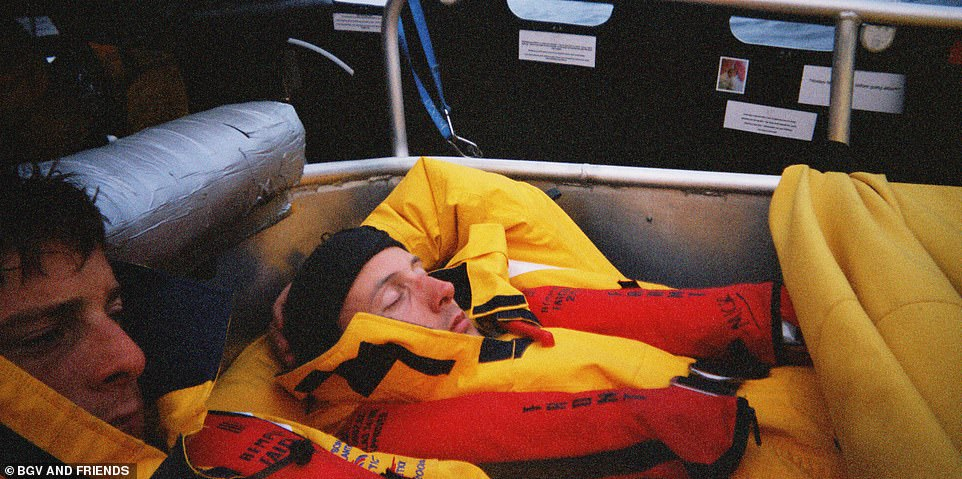 Brave: Another photo from the expedition to Greenland in a rib that nearly landed him in troubled waters
