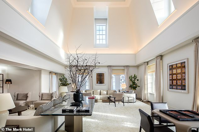 Lavish: The baby shower is taking place in the Penthouse Suite at The Mark, which is widely reported to be the most expensive per-night hotel room in the U.S.