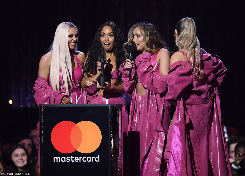 Grateful: While Jesy gave a nod to their fans and added: 'Thank you, you are our babies!'