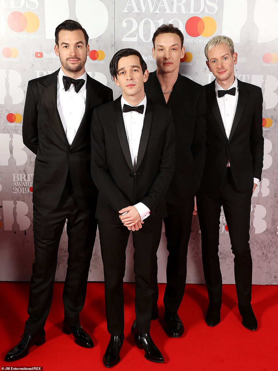 Winners: The 1975 (pictured) took home the Best British Group prize