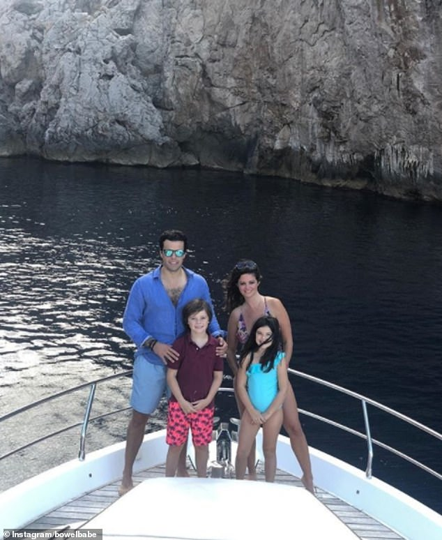 The James family pictured on holiday last summer. Deborah has been vocal about her battle with incurable bowel cancer