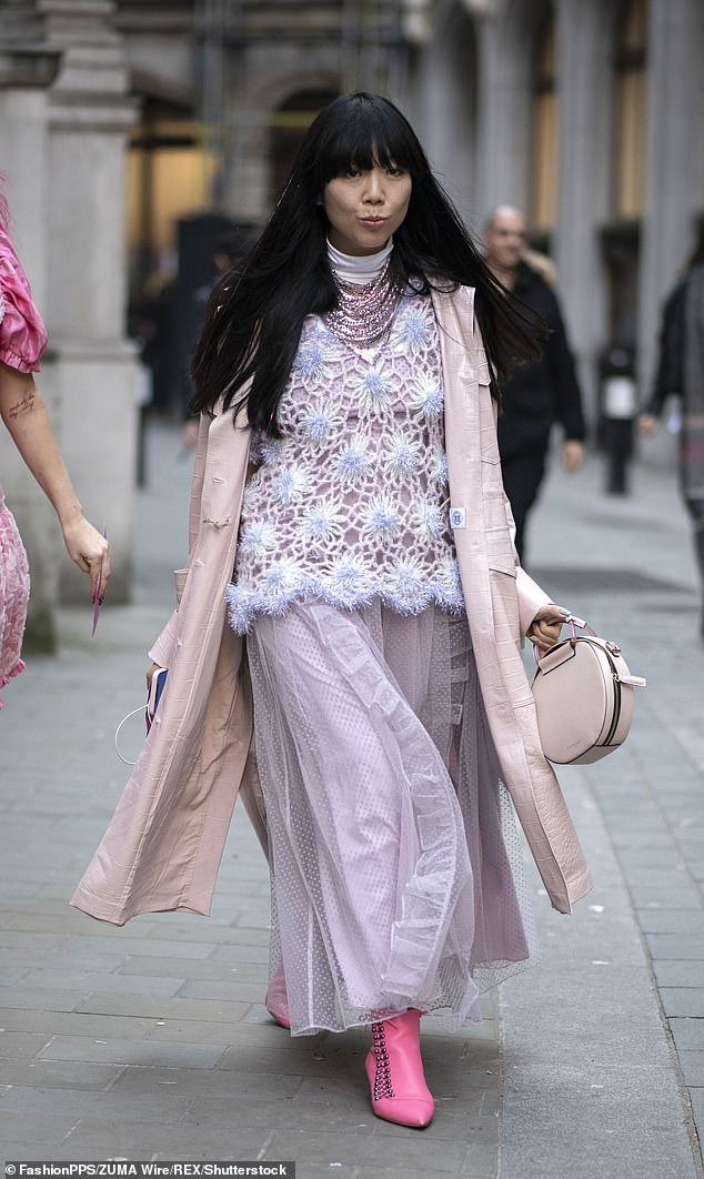 Fashion blogger Susie Lau aka Susie Bubble was pictured earlier this week wearing the statement shoe in pink