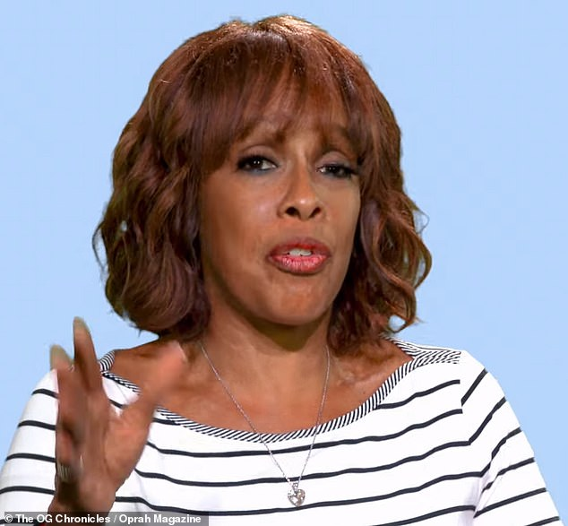 Shocking: Gayle King has revealed that she walked in on her husband having sex with one of her friends during their 11-year marriage