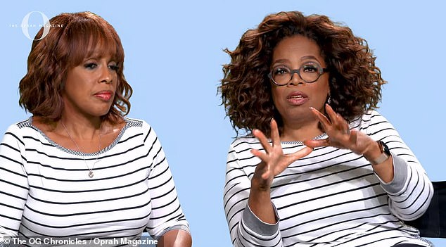 So sweet: Oprah said the reason her friendship with Gayle is 'so great' is that they have 'always wanted the best' for each other