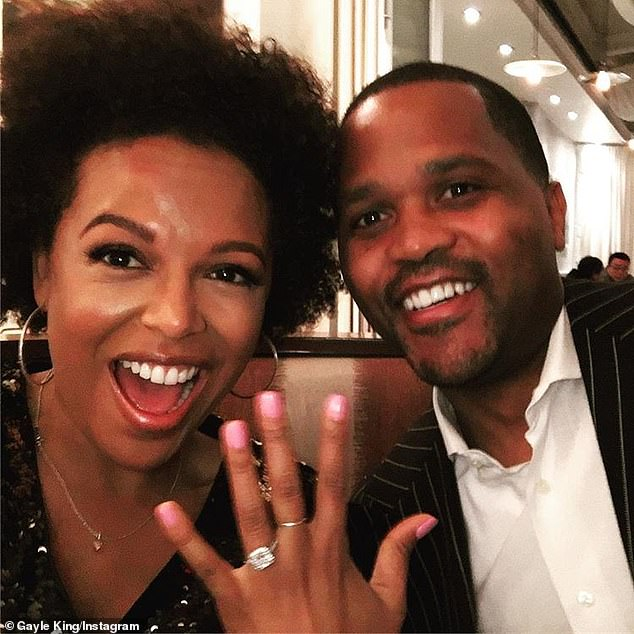 Proud: Gayle happily welcomed Kirby'sfiancé Virgil Miller (right) into their family