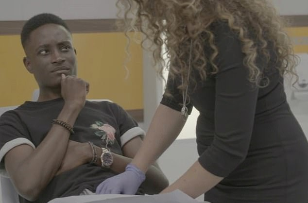 Ayo, 21, from Dublin was filmed for E4's The Sex Clinic but was concerned to find out his missing testicle could still be inside him