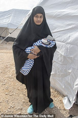 Shamima Begum in the field of Al Hawl in Kurdish Syria