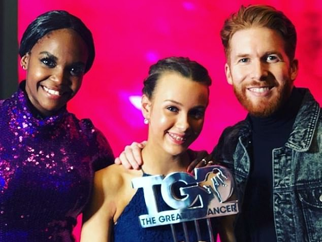 Ellie Furguson was mentored by Strictly Come Dancing's Oti Mabuse (pictured)  but her childhood dance teacher Jenni Inglis, from Edinburgh Dance Academy, still helped with her routines while on the show. Ellie found out the audience was full of Strictly pros including Neil Jones (pictured) seconds before she performed a duet with Oli