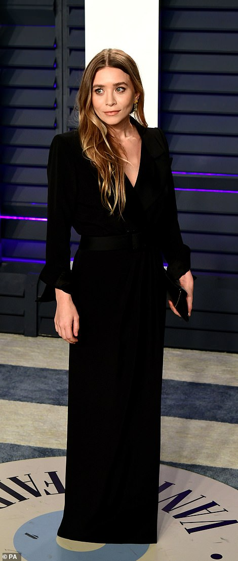 Understated chic: Actress Natalie Portman looked gorgeous in a strapless jumpsuit and designer Ashley Olsen opted for a v-neck long sleeved gown
